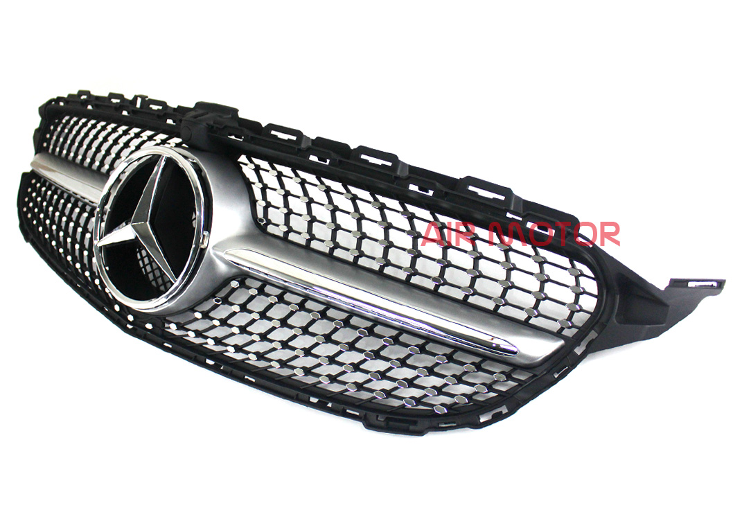 Front diamond grille silver for mercedes benz w205 c class c450amg type 2015 ebay - Grille indiciaire 2015 categorie c ...