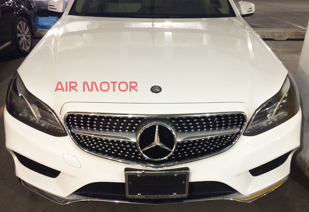 Front diamond grille silver for mercedes benz w205 c class for Silver star mercedes benz parts