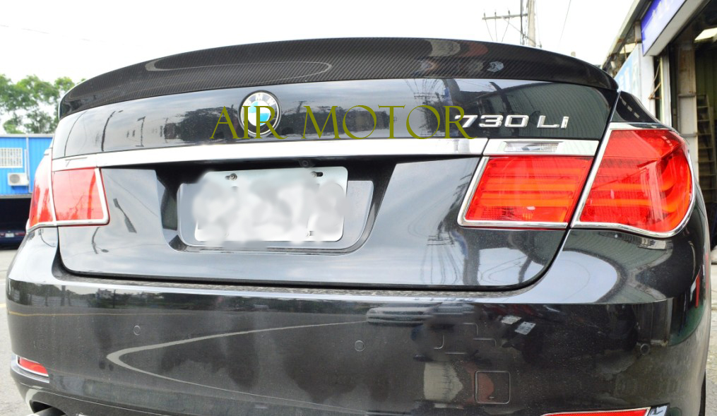 Real Carbon Fiber BMW F01//F02 7-Series Rear Boot Trunk Spoiler 760Li 750Li 740Li