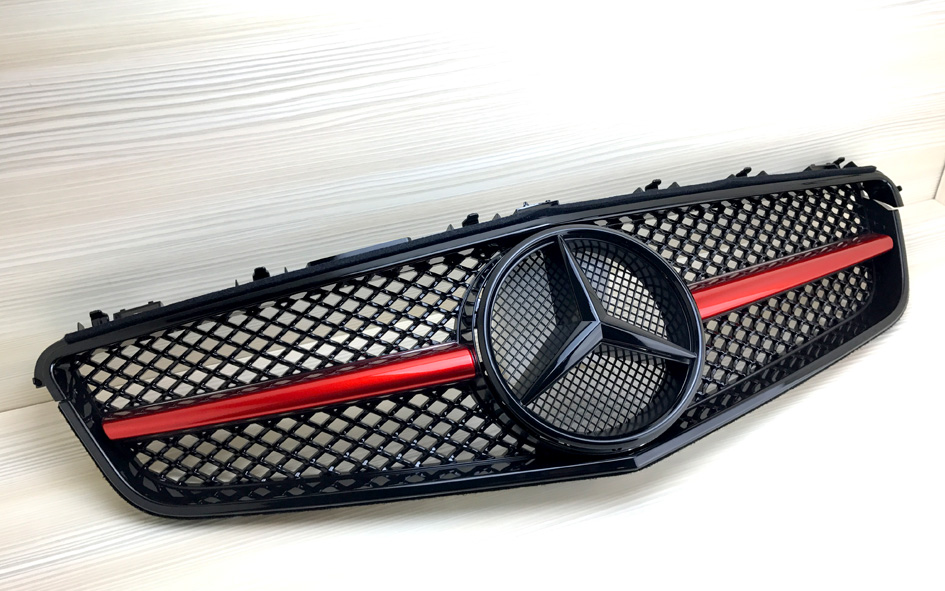 Gloss Black Grille Fit BENZ W207 C207 Coupe Conv 2010-2013 E-Class Red Metallic